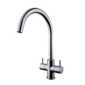 Wickes Kumai Monobloc Kitchen Sink Mixer Tap - Chrome