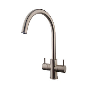 Wickes Kumai Monobloc Kitchen Sink Mixer Tap - Brushed Chrome