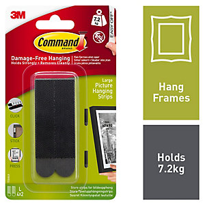 Command Black Large Picture Hanging Strips - 4 Pairs