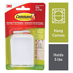 Command White Jumbo Canvas Picture Hanger