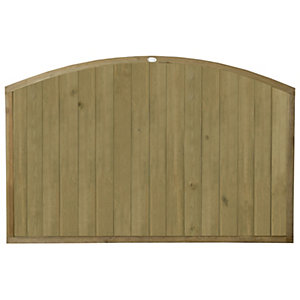 Forest Garden Vertical Domed Top Tongue & Groove Fence Panel - 6 x 4ft Multi Packs
