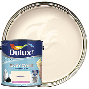 Dulux Easycare Bathroom - Ivory Lace - Soft Sheen Emulsion Paint 2.5L