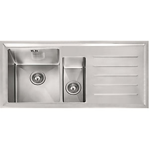 Franke Winsford 1.5 Bowl Right Hand Drainer Stainless SteelKitchen Sink