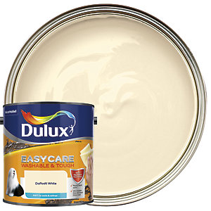 Dulux Easycare Washable & Tough - Daffodil White - Matt Emulsion Paint 2.5L