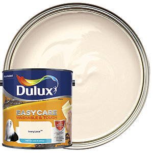 Dulux Easycare Washable & Tough - Ivory Lace - Matt Emulsion Paint 2.5L