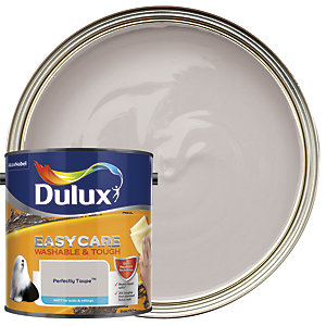 Dulux Easycare Washable & Tough - Perfectly Taupe - Matt Emulsion Paint 2.5L