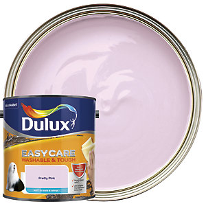Dulux Easycare Washable & Tough - Pretty Pink - Matt Emulsion Paint 2.5L