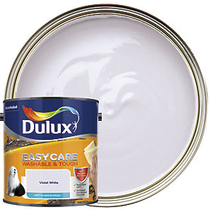 Dulux Easycare Washable & Tough - Violet White - Matt Emulsion Paint 2.5L