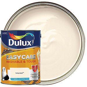 Dulux Easycare Washable & Tough - Ivory Lace - Matt Emulsion Paint 5L