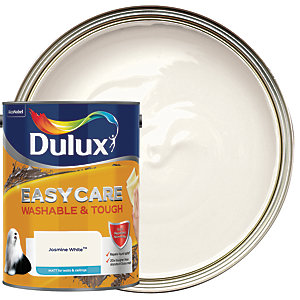 Dulux Easycare Washable & Tough - Jasmine White - Matt Emulsion Paint 5L