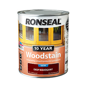 Ronseal 10 Year Woodstain - Deep Mahogany 750ml