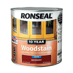 Ronseal 10 Year Woodstain - Mahogany 2.5L