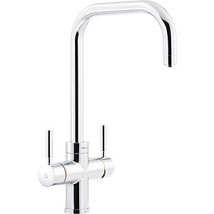Pronteau by Abode Protex 3 In 1 Steaming Water Monobloc Sink Tap - Chrome