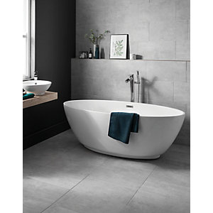 Wickes Tibet Light Grey Matt Glazed Porcelain - 600 x 300mm