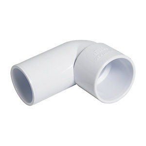 FloPlast WS27W Solvent Weld Waste 90 Deg Bend Conversion - White 40mm