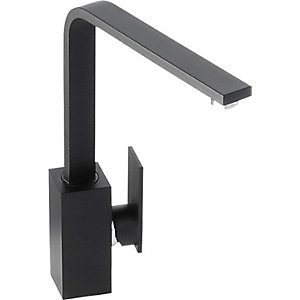 Abode New Media Single Lever Sink Tap - Matt Black