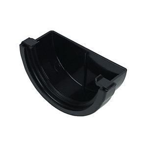 FloPlast 76mm MiniFlo Gutter External Stop End - Black