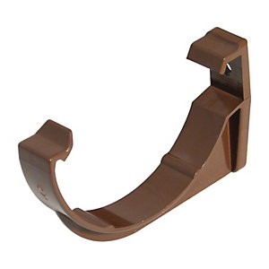 FloPlast 76mm MiniFlo Gutter Fascia Brackets - Pack of 2 - Brown