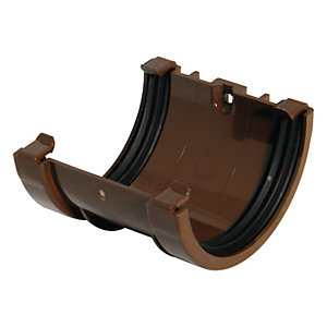 FloPlast 76mm MiniFlo Gutter Union Bracket - Brown