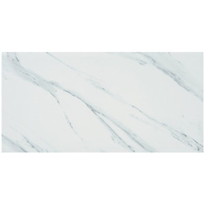 Calacatta Matt White Glazed Porcelain Tile 600 x 300mm Sample