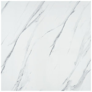 Calacatta Gloss White Glazed Porcelain Tile 605 x 605mm Sample