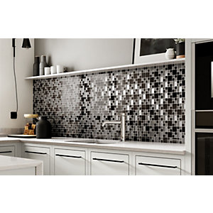 Wickes House of Mosaics Gunmetal Luxe Mosaic Tile Sheet - 300 x 300mm