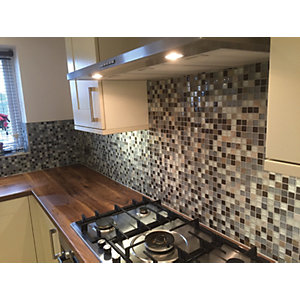 Wickes House of Mosaics Tuscon Small Mosaic Tile Sheet - 300 x 300mm