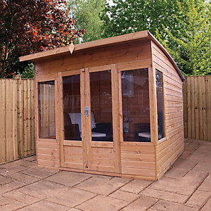 Mercia 8 x 8 ft Contemporary Curved Roof Summerhouse with Double Doors
