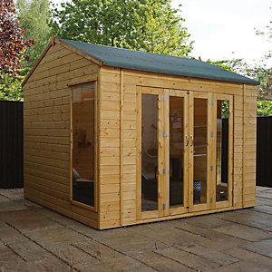 Mercia 10 x 8 ft Large Vermont Summerhouse with Double Bi-Fold Doors