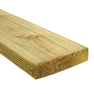 Wickes Treated Kiln Dried C24 Regularised Timber - 45 x 195 x 3600mm