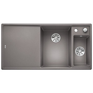 Blanco Axia 1.5 Bowl Silgranit Inset Kitchen Sink - Grey