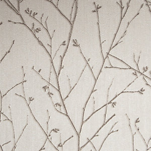 Boutique Water Silk Sprig Ivory Decorative Wallpaper - 10m