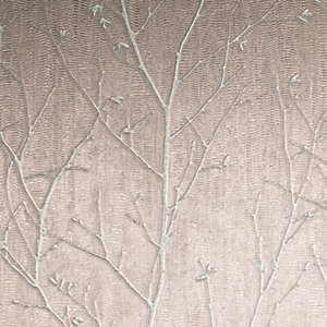Boutique Water Silk Sprig Rose Gold Decorative Wallpaper - 10m