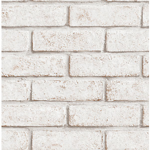 Superfresco Easy Brick White/Red Decorative Wallpaper - 10m