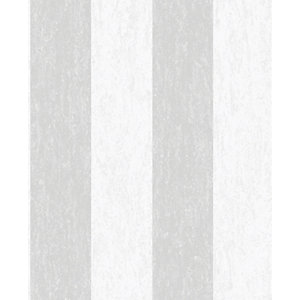 Superfresco Easy Mercury Stripe Grey Decorative Wallpaper - 10m