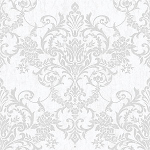 Superfresco Easy Victorian Damask Silver Decorative Wallpaper - 10m