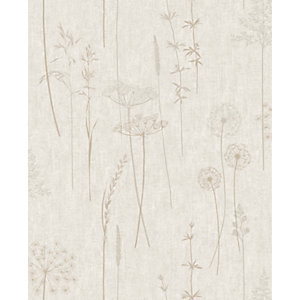 Superfresco Easy Meadow Natural Decorative Wallpaper - 10m