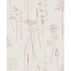 Superfresco Easy Meadow Red Decorative Wallpaper - 10m