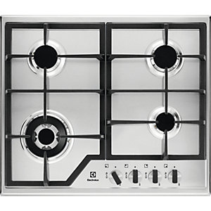 Electrolux 60cm 4 Burner Gas Stainless Steel Hob KGS6436X