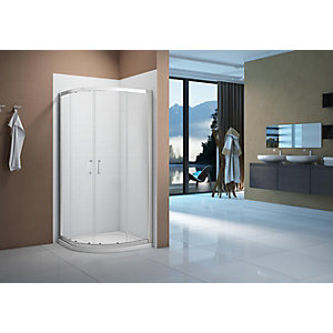 Nexa By Merlyn 6mm Chrome Quadrant Double Sliding Door Shower Enclosure - Various Sizes Available