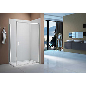 Nexa By Merlyn 6mm Chrome Framed Sliding Shower Door Only - 1600mm