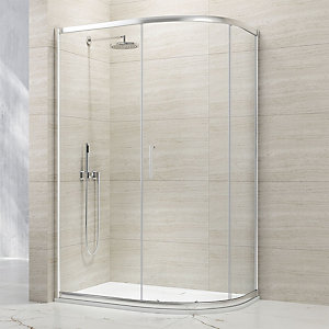 Nexa By Merlyn 8mm Chrome Offset Quadrant Single Sliding Door Shower Enclosure - 1900 x 800mm