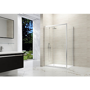 Nexa By Merlyn 8mm Chrome Framed Sliding Shower Door Only - 1000mm