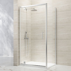 Nexa By Merlyn 8mm Framed Chrome Pivot Shower Door Only - 900mm