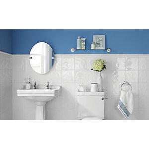 Wickes White Bumpy Ceramic Wall Tile 200 x 200 mm