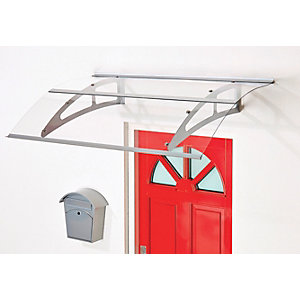 Superroof Berlin Door Canopy Silver 1500 x 925mm