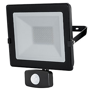 Luceco Eco Slimline PIR Floodlight Black 20W Cool White