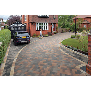 Marshalls Drivesett Coppice Driveway Block Paving - Pennant Blend 240 x 160 x 50mm Pack of 250