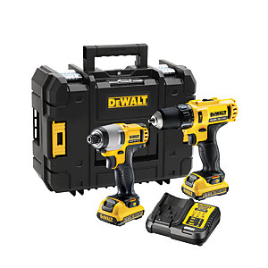 DEWALT DCK218D2T-GB 12V XR Cordless Combi Drill And Impact Driver Twin Pack