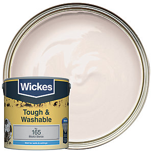 Wickes Blissful Silence - No.165 Tough & Washable Matt Emulsion Paint - 2.5L